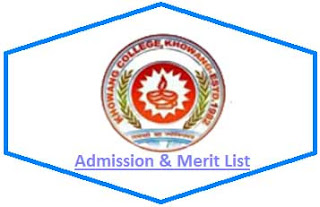 Khowang College Merit List