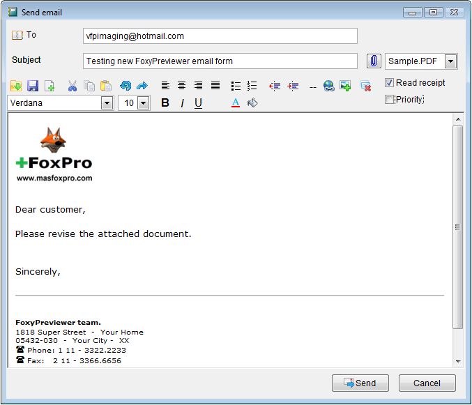 FoxyPreviewer alternative to send your reports by email