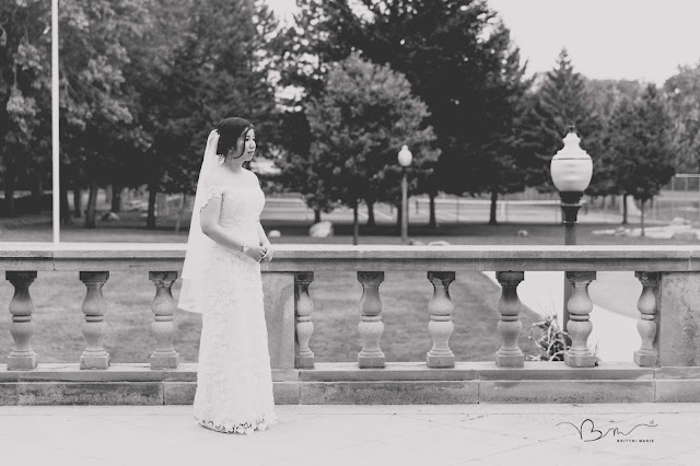 bridal portrait at Grosse Point Academy