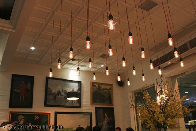Beautiful organization of light bulbs in Marciano's
