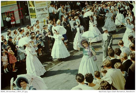 Bergsträßer Winzerfestumszug, Bensheim, 1964, Nachlass Egon Stoll-Berberich