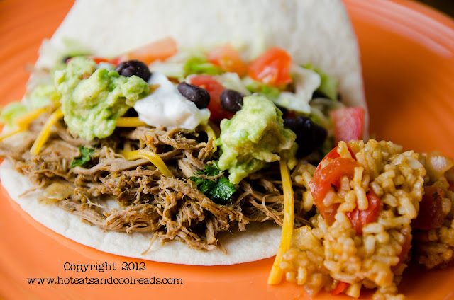 Let the slow cooker do all the work for you! This delicious dinner will be ready when you get home! Slow Cooker Shredded Beef Tacos Recipe from Hot Eats and Cool Reads