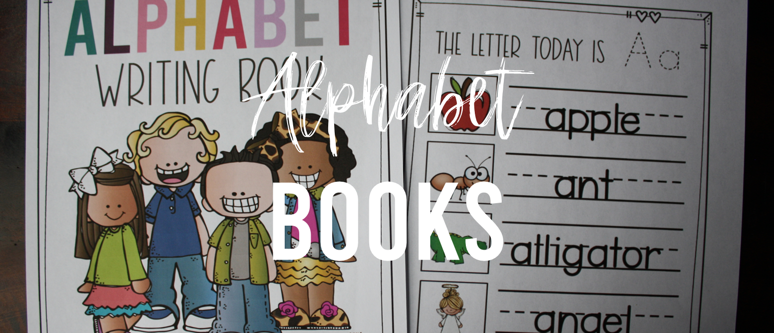 Alphabet books for writing and letter sounds practice. Use in a writing center, phonics center, alphabet center, or as part of Daily 5 activities. K-1
