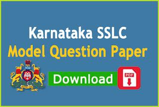kseeb.kar.nic.in 2020 model question paper SSLC