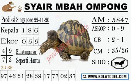 Syair Mbah Ompong SGP Minggu