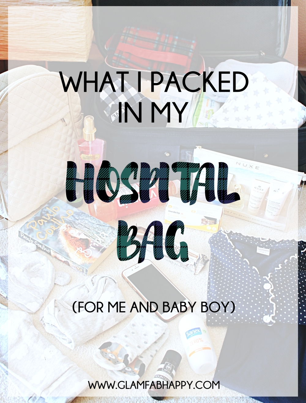 what I packed in my hospital bag for me and baby boy, hospital bag checklist