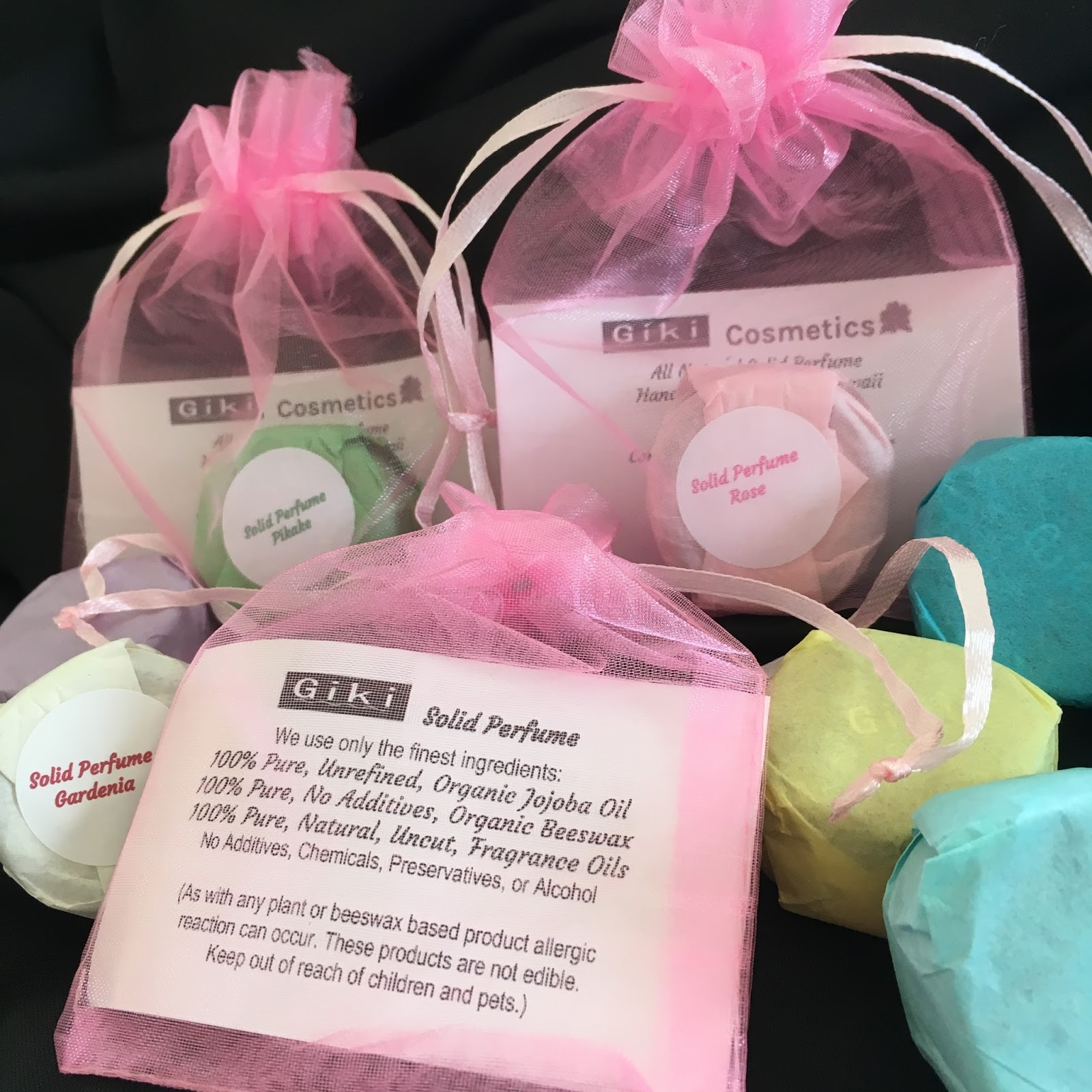 Giki Cosmetics: Giki Cosmetics Solid Perfume Product Info