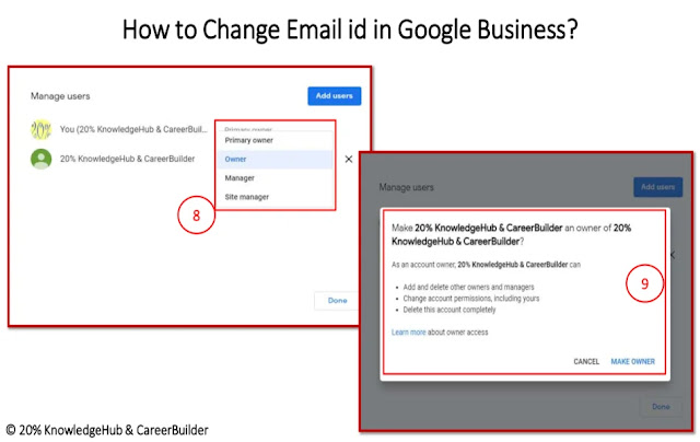 How to Change Email id in Google Business?