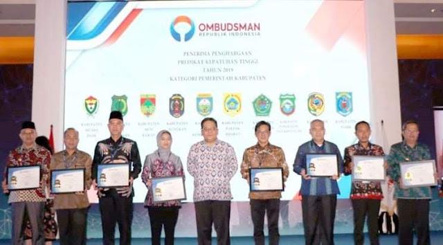 Muara Enim Terima Penghargaan  Ombudsman RI