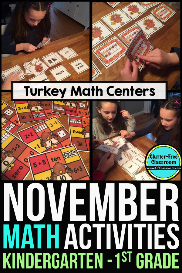 Free math manipulatives are a good thing, right? It seemed perfect my November math centers for Kindergarten and first grade...until things took a turn. Read on to find out why using them for math activities, in a science center or as counters may not turn out as planned.