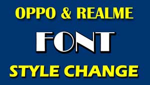Realme Font Change : Realme font download, Font Style & Realme font Apk
