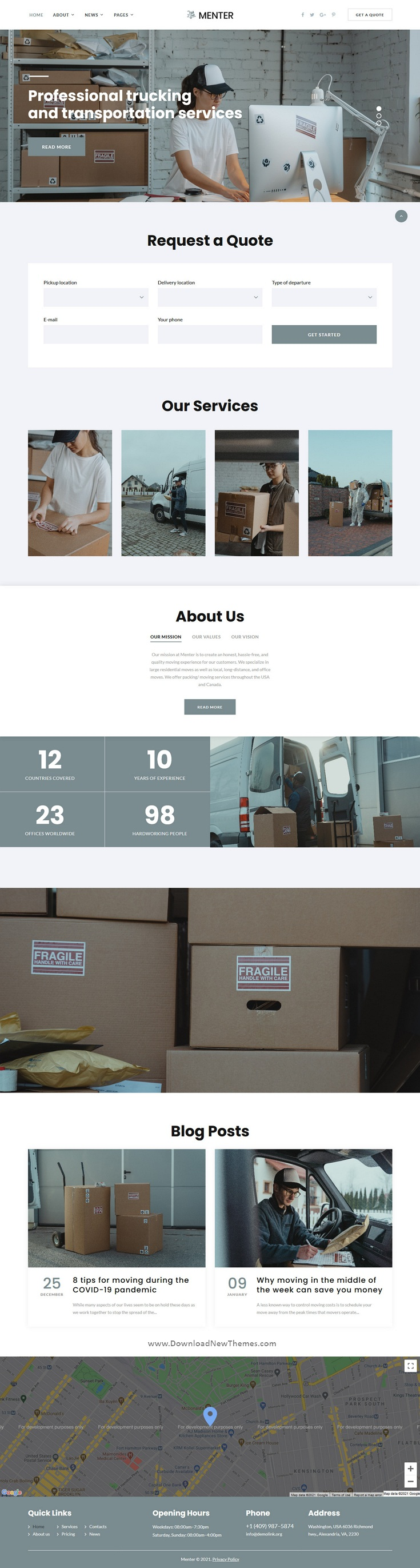 Moving Company Bootstrap Template