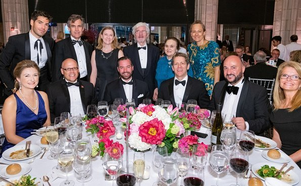 Prince Guillaume and Crown Princess Stephanie of Luxembourg attended the 2018 Luxembourg-American Business Award Dinner in New York