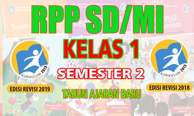 RPP SD Kelas 1 Semester 2 K13 Revisi 2018