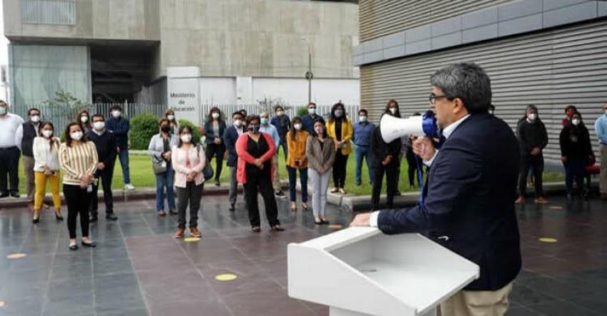 MINEDU: Martín Benavides agradece apoyo del personal del sector