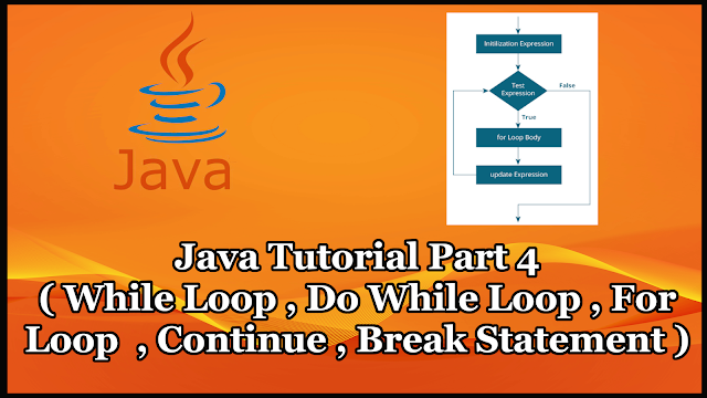 Java Tutorial Part 4 | For Loop,While Loop,Do While