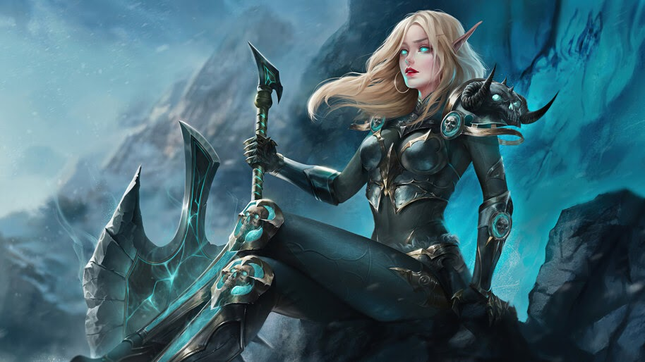 Fantasy, Girl, Elf, Warrior, World of Warcraft, 4K, #3.2704