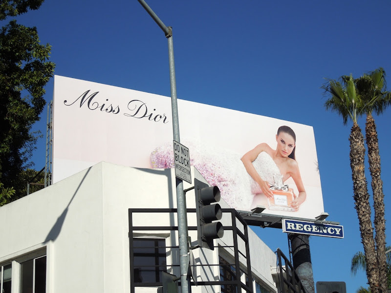 Miss Dior fragrance billboard