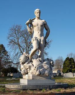 Civic Virtue, an idealized statue in Green-wood cemetery