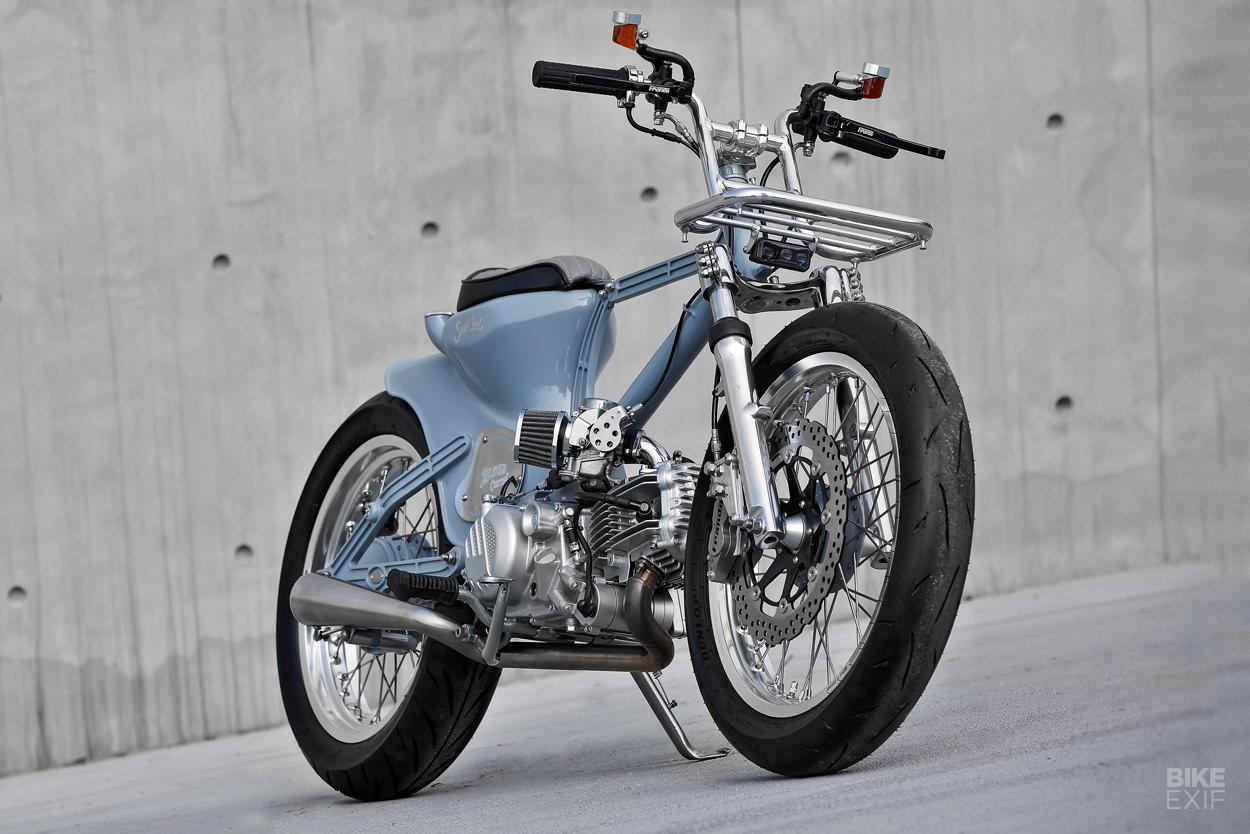 Modifikasi motor ala sepeda klasik
