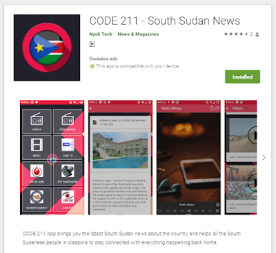 CODE 211 is a first Multi-News android App platform for all in South Sudanese news app that provides the user with the latest local news featuring the top South Sudan News Blogs and Rdio stations.