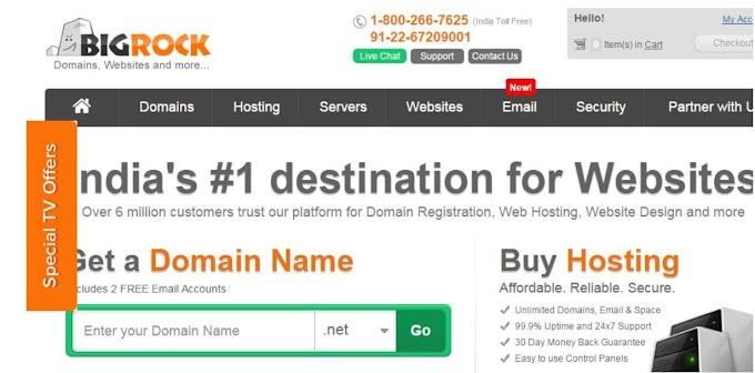 Buy BigRock Hosting And Domain