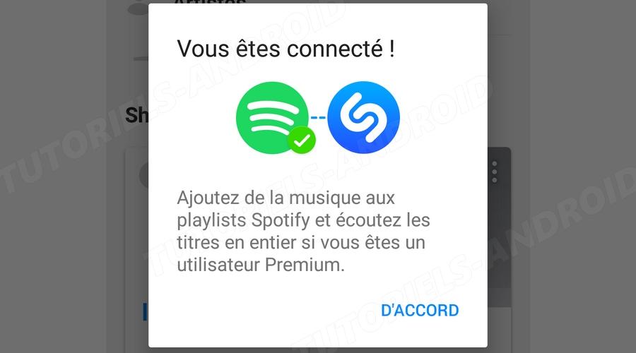 Lier Shazam avec Spotify