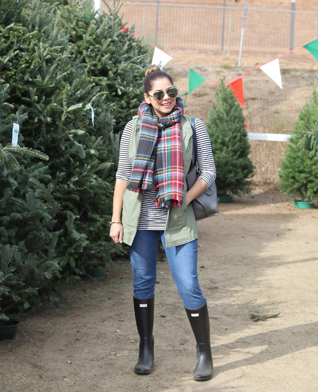 Hunter boots outfit, san diego style, San diego fashion blogger in winter