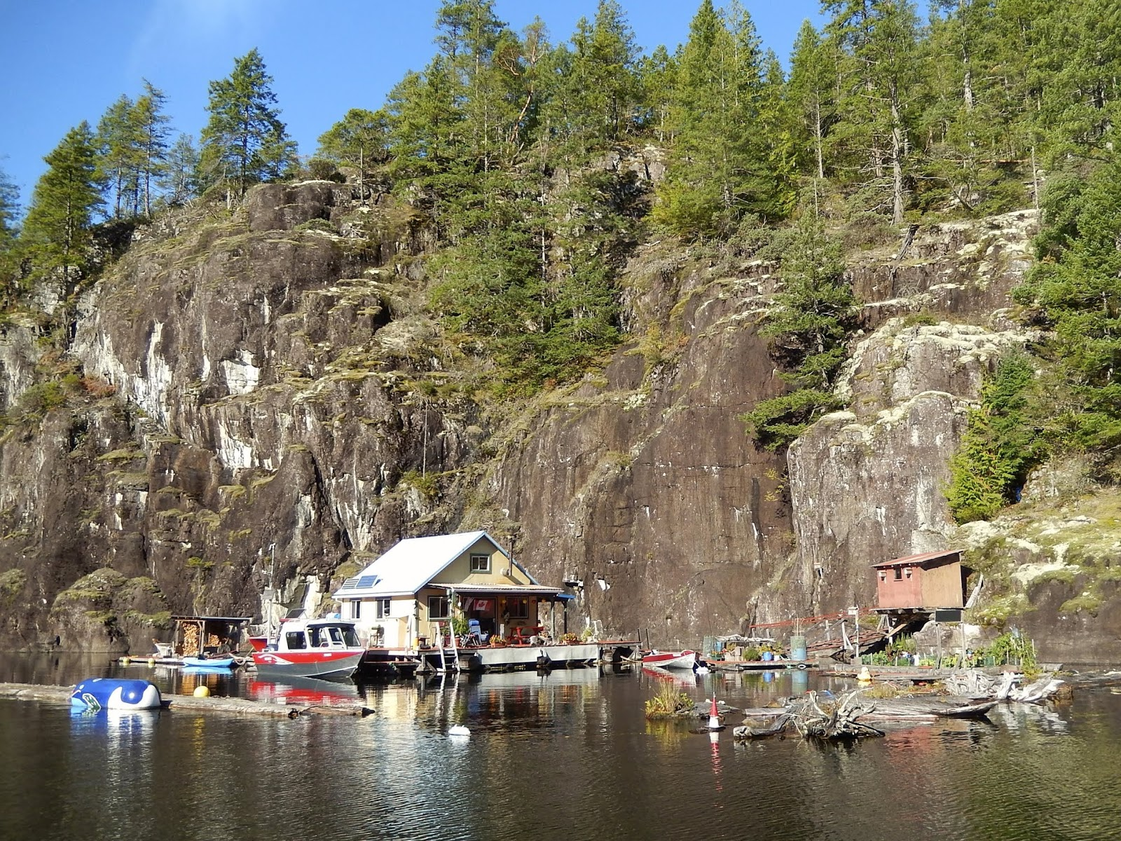powell river books blog: float cabins for sale on powell lake bc