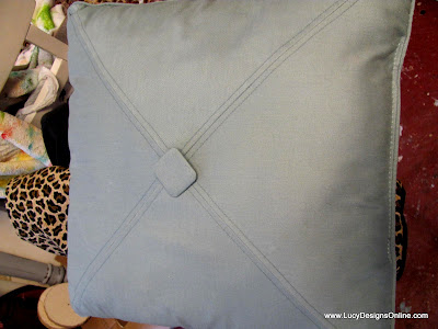 diy painted pillow makeover