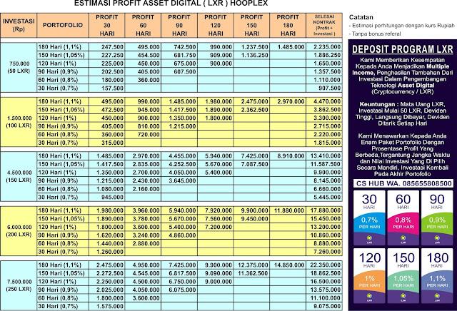 Plan Investasi Hooplex dalam Rupiah