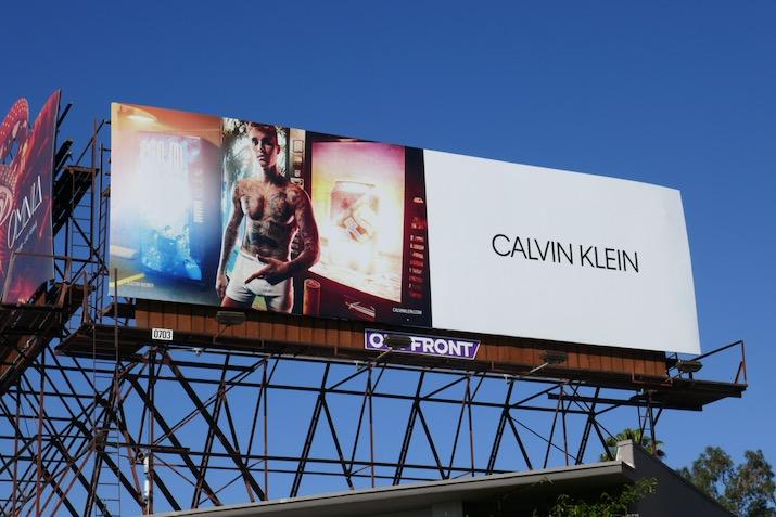 Justin Bieber Calvin Klein underwear S20 billboard