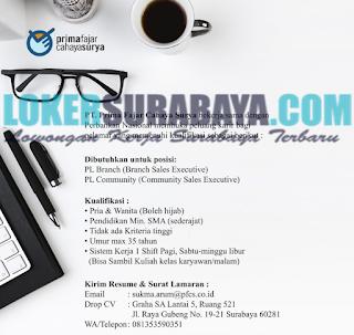 Tantangan Kerja Terbaru di PT. Prima Fajar Cahaya Surya Surabaya Juni 2019