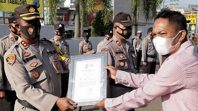 Polres Tabalong Mendapatkan Bhayangkara Bhakti Perdana Award
