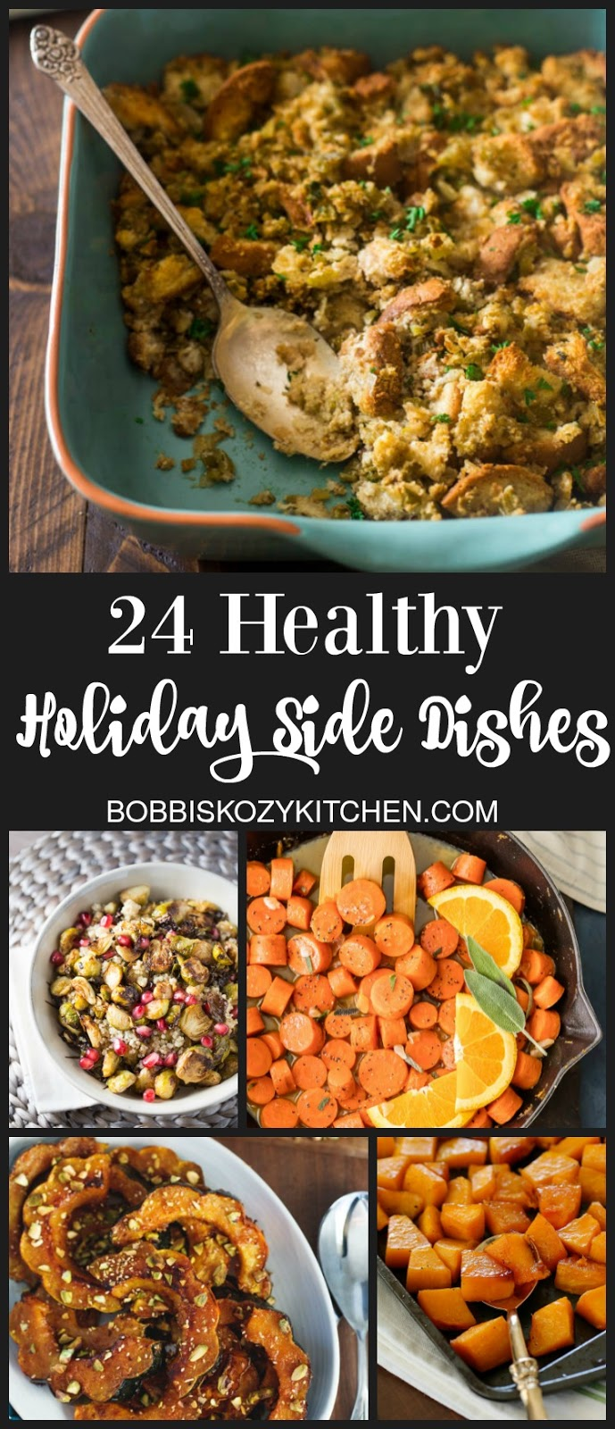 24 Healthy Holiday Side Dishes #holidayrecipes #sidedishes #sidedishrecipes #sides #recipes #recipe #thanksgiving #christmas| bobbiskozykitchen.com