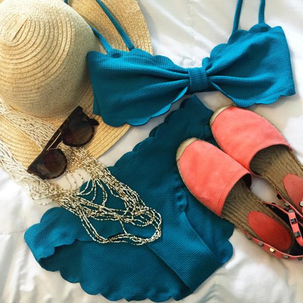summer style, scallop bikini