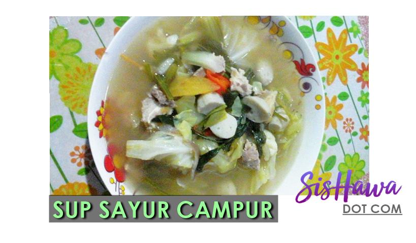resepi sup sayur