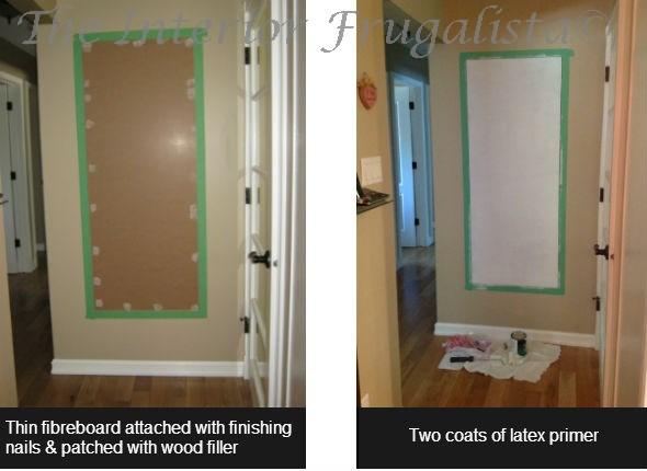 Chalkboard Wall Prep Steps 1-2