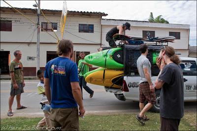 The posy loading boats, Colombia, San Agustin, Chris Baer