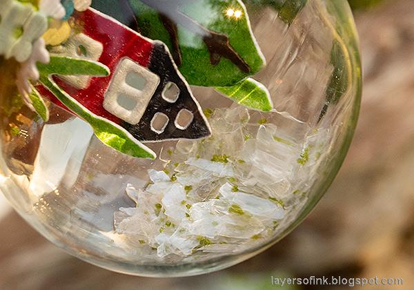Layers of ink - Summer Garden Miniature Snowglobe Tutorial by Anna-Karin Evaldsson.