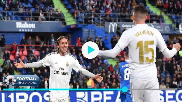 Getafe vs Real Madrid Highlights