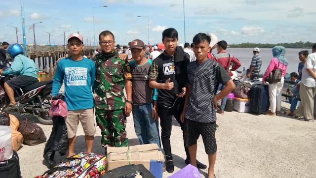 Turut Amankan Arus Balik Lebaran di Pelabuhan Roro, Ini Himbauan Dandim 0419/Tanjab