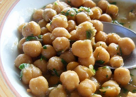 Garbanzos con anchoas
