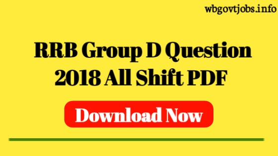 Railway Group D Question Paper 2018 PDF In English
