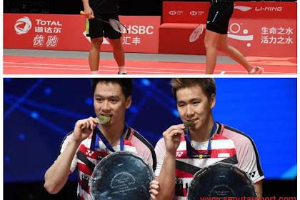 Hasil perempatfinal Malaysia Masters Gloria/Hafiz melaju Kevin/Marcus tersingkir