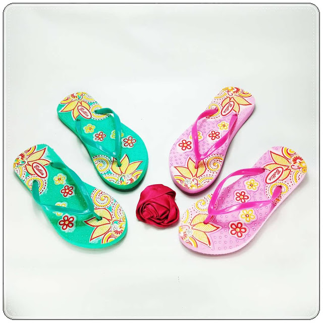 grosirsandalmurah.org - sandal Wanita - Sablon Bunga Wanita