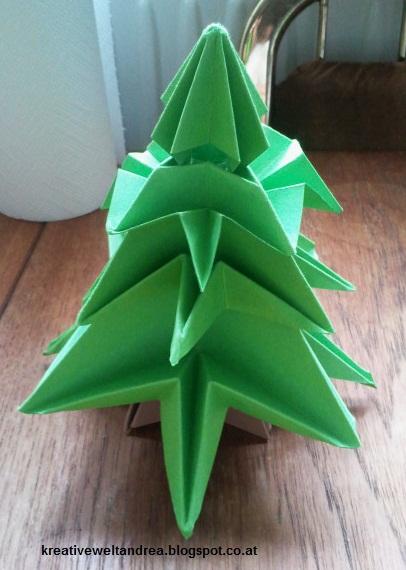 meine kreative welt origami tannenbaum mit anleitung. Black Bedroom Furniture Sets. Home Design Ideas