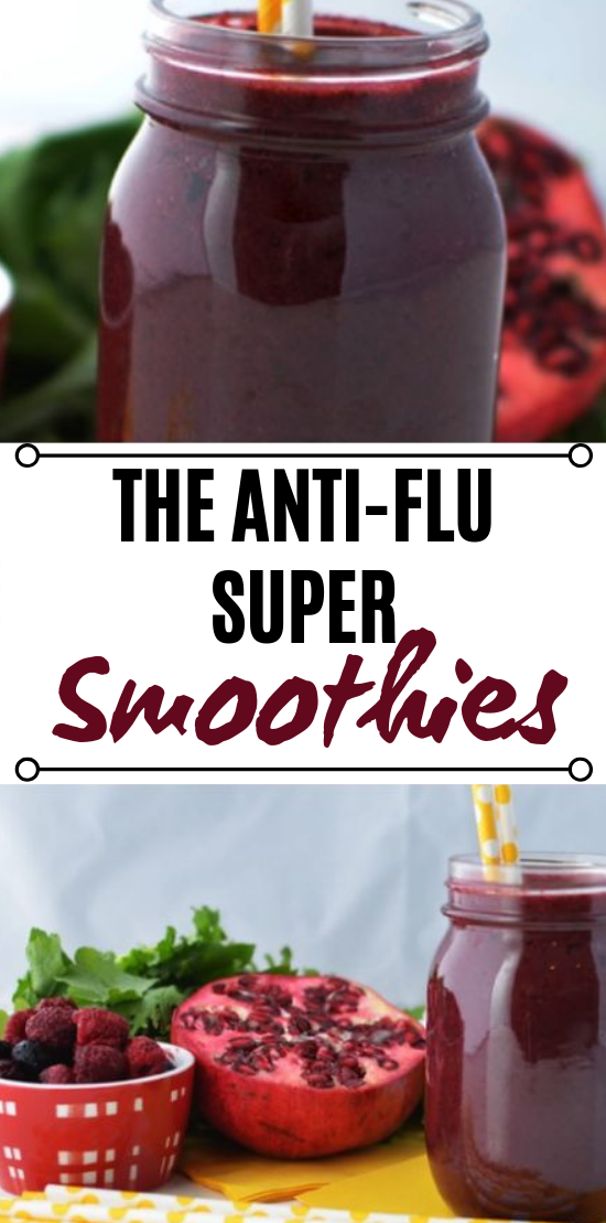 Anti-Flu Super Smoothie for Kids #drinks #smoothies