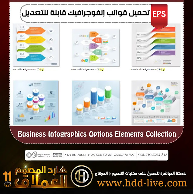 Business Infographics Options Elements Collection