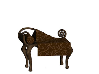 Wooden Bench, Bank, Ottoman, Pillow